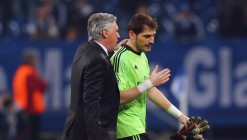 Carlo Ancelotti and Iker Casillas