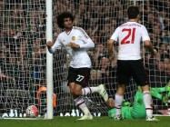 LONDON, ENGLAND - APRIL 13: Marouane Fellaini of Manchester United celebrates scoring his team's second goal during The Emirates FA Cup, sixth round replay between West Ham United and Manchester United at the Boleyn Ground on April 13, 2016 in London, England.  (Photo by Ian Walton/Getty Images)